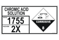 Chromic Acid Solution storage Panel
