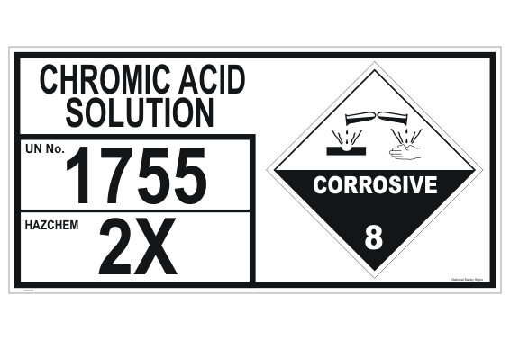Chromic Acid Solution storage Panel