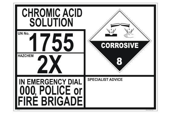 Chromic Acid Solution transport EIP
