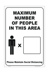 Maximum People in Area sign