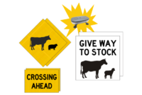 VicRoads Stock Crossing Ahead Sign Kit