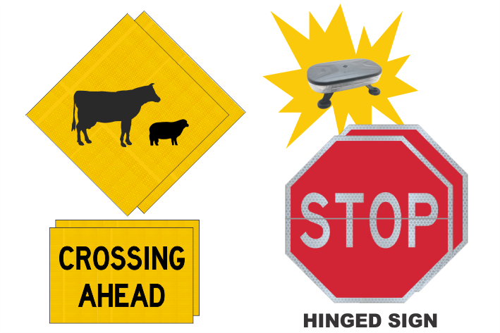Vic Stock Crossing sign kit