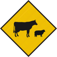 Stock Crossing Diamond Sign