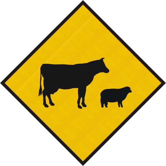 Stock Crossing Diamond Sign