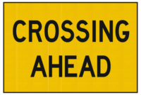 Crossing ahead sign