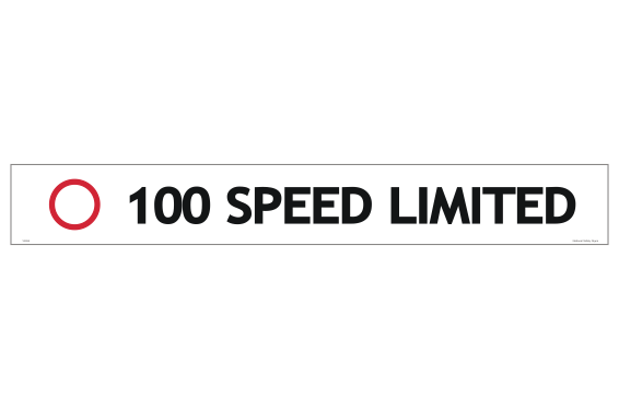 100 Speed Limited sticker - bus signs