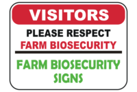 Farm Biosecurity Signs