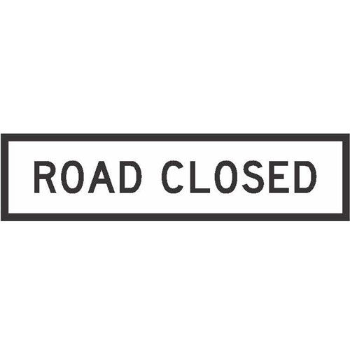 White T2-4 Road Closed boxed edge sign
