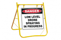 Low Level Drone Spraying sign