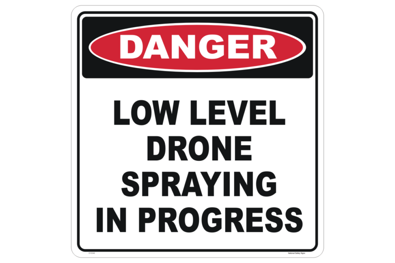 Drone Spraying sign - UAV signs