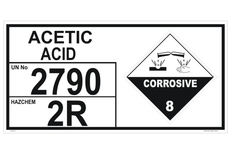 Acetic Acid storage Panel - UN 2790