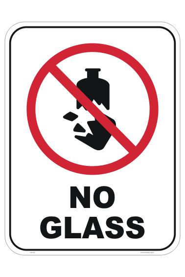 No Glass sign