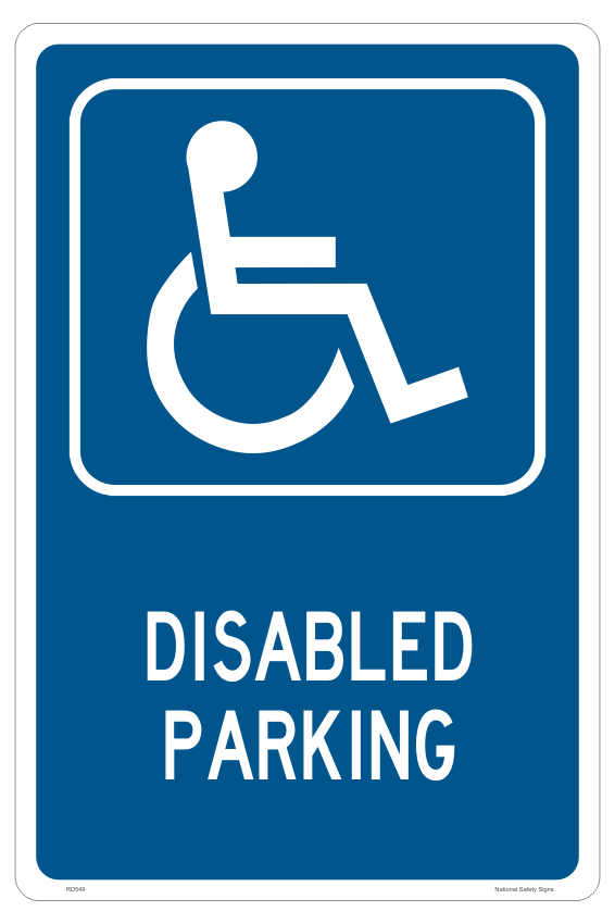 Disabled and Handicapped Parking Sign