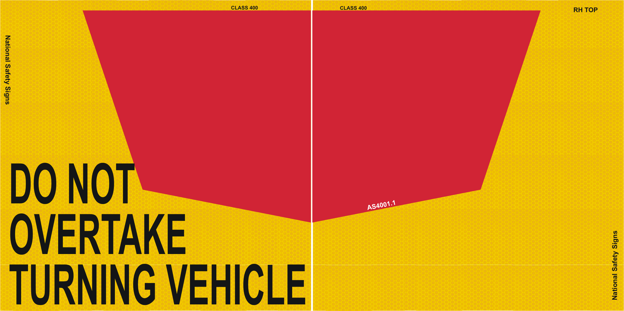 NSW do not overtake turning vehicle sign
