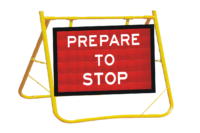 Prepare to stop sign wand stand