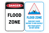 Flood Zone Sign - Flood Channel and Drain Danger Sign