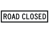 Qld Road Closed sign 1200x300