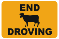End Droving Sign - livestock farm signs