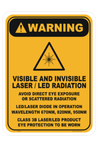 3B Laser LED Warning sign