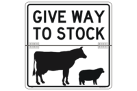 Give way to stock hinged sign