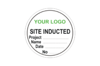Site Induction stickers