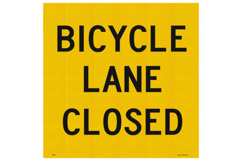 Bicycle Lane Closed sign