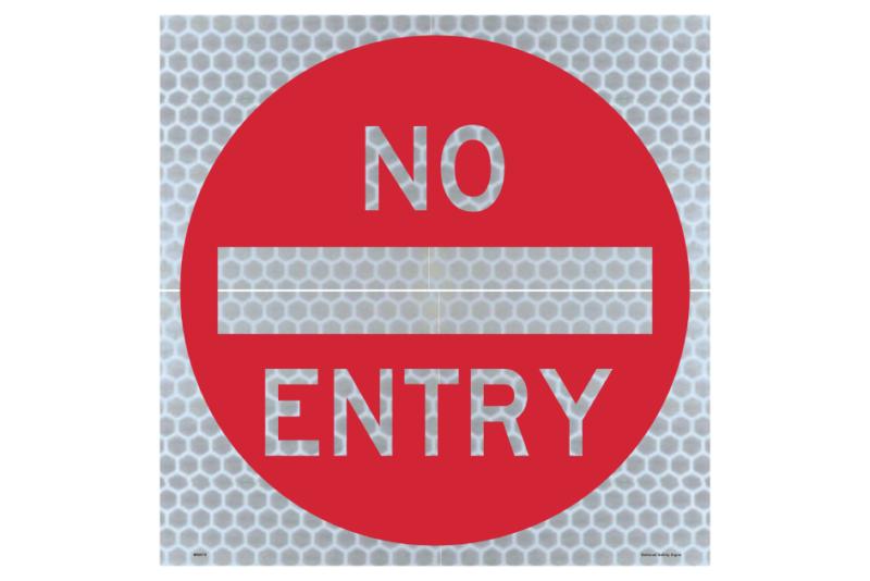 Temporary No Entry sign