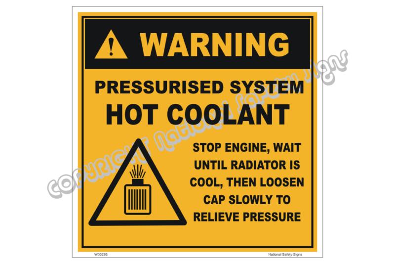 Pressurised system hot coolant