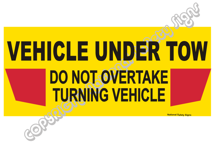 vehicle under tow banner