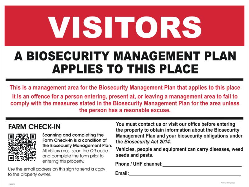 Farm Check In Sign